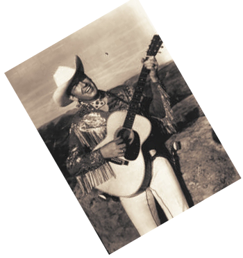 Rex Allen with guitar